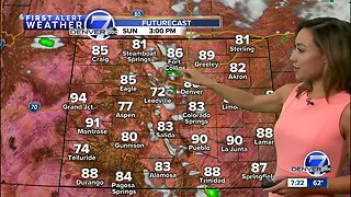 Strong storms possible in Denver Sunday