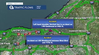 Icy road conditions causing multiple crashes on I-90 Thursday