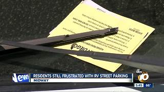 Residents frustrated with illegal RV street parking - Video