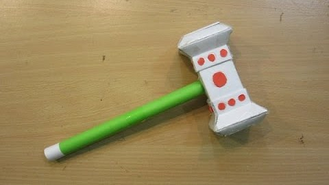 How to Make a Paper Thor Hammer