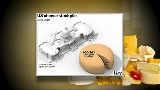 America has a record high stockpile of cheese at 1.385 billion pounds - Video
