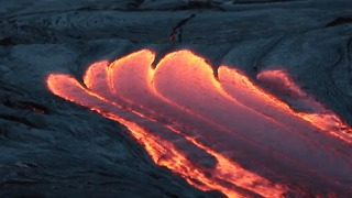 Lava Flow From Kilauea Volcano Captured During 'Blue Hour' of Dawn - Video