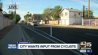 City of Phoenix seeking input from cyclists on roadways - Video