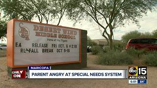 Maricopa mother mad over special needs classroom policy - Video
