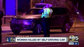 Woman killed by self-driving Uber in Tempe - Video