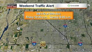 Roads to avoid this weekend - Video