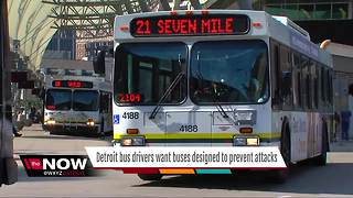 Detroit bus drivers seek to redesign buses for protection - Video