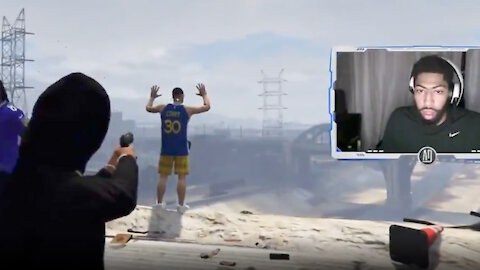 """Anthony Davis Very Excited About EXECUTING """"Steph Curry"""" While Playing GTA Online"""