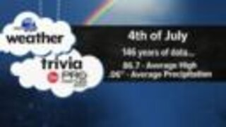 Weather trivia: Looking at Fourth of July forecasts