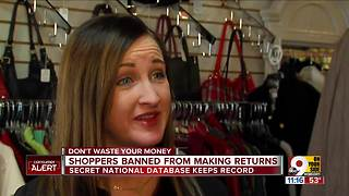 Shoppers being banned for too many store returns - Video