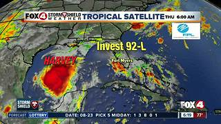 Tropical Update 6am Thursday -- T.S Harvey threatens Texas - Video
