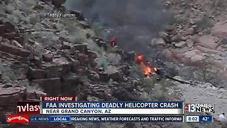 Survivors of Grand Canyon helicopter crash flown to Las Vegas - Video