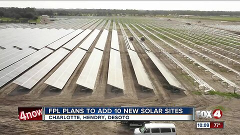 FPL plans to add 10 new solar sites in Florida