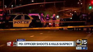 Suspect dies after officer-involved shooting in Mesa - Video
