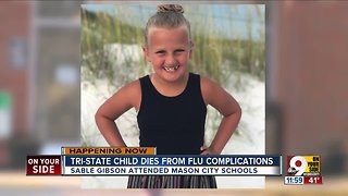 Child dies from flu complications