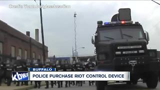 Buffalo Police purchase $30,000 riot control device - Video