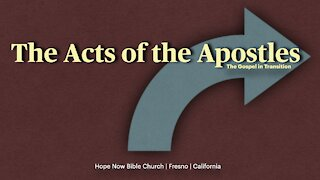 Acts 1:1 | Session 1 | Israel, Law, and the Transition to the Gentiles