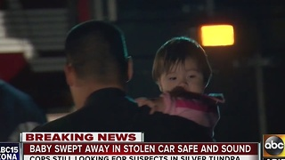 Car stolen in Phoenix, baby still inside - Video