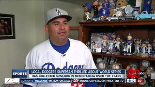 Local Dodgers superfan thrilled about World Series - Video