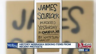 History Nebraska Seeking Items from Recent Protests
