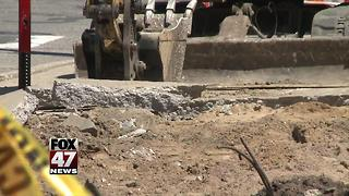 Construction project begins on sidewalks outside East Lansing City Hall - Video