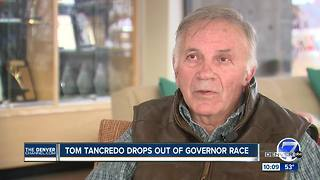 Republican Tom Tancredo drops out of Colorado governor race - Video
