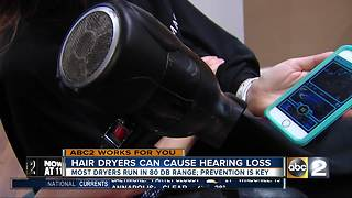 Hair dryers can damage hearing over time - Video