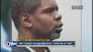 New charges for man convicted of theft - Video