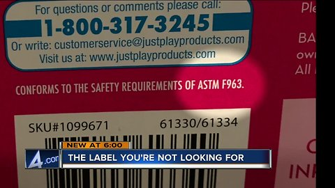 Toy safety: Do you know what safety labels to look for?
