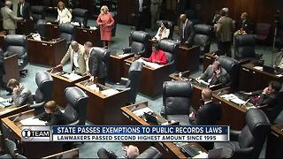 State passes exemptions to public records laws - Video