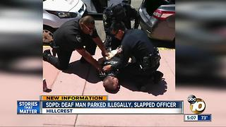 SDPD: Deaf man parked illegally, slapped officer - Video