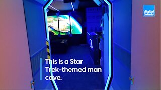 Live long and prosper in this Star Trek man cave