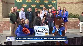 Local military families surprised with free groceries - Video