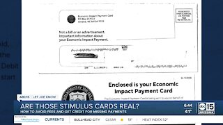Are those stimulus payment cards real or fake?