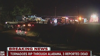 Tornadoes rip through Alabama, 3 reported dead
