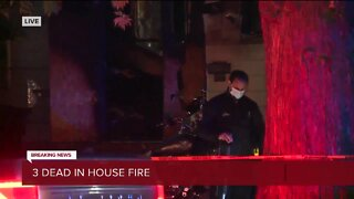 3 dead in house fire on Detroit's east side