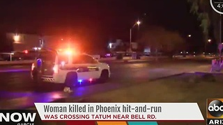 Woman killed in Phoenix hit-and-run - Video