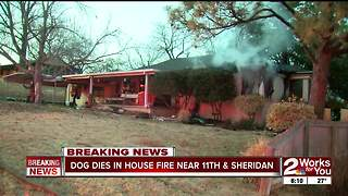 Dog dies in house fire near 11th and Sheridan - Video