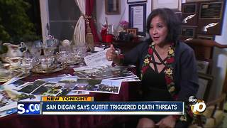 San Diegan says outfit triggered death threats