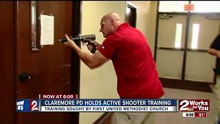Claremore Police hold active shooter training - Video