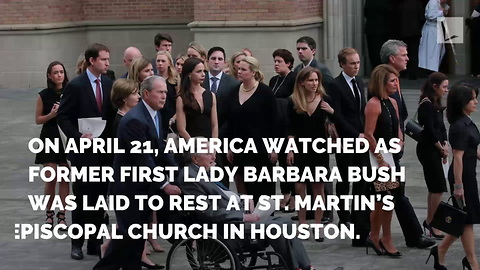After Barbara Bush's Funeral, Secret Service Spotted by Coffin. Then Photographer Realizes