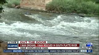 1 drowned, 1 rescued from South Platte River in Denver - Video