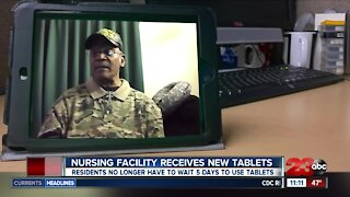 Bakersfield senior living facility receives donated tablets from the community, veterans can keep in touch with families
