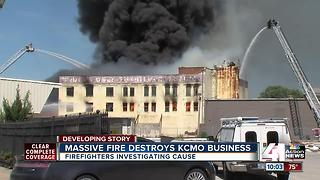 Officials investigating cause of three-alarm fire in KCMO - Video