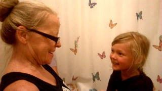 Getting Girly With Grandma (Fake Eyelashes)