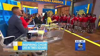 Baltimore's Cardinal Shehan School Choir performs live on GMA - Video