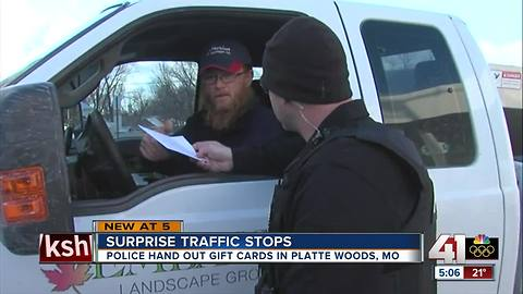 Police surprise drivers with gift cards