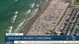 Packed beaches expected over holiday weekend