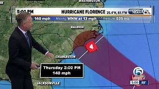 5 p.m. Monday Florence update - Video
