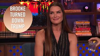 Brooke Shields gags when recalling Trump asking her out - Video
